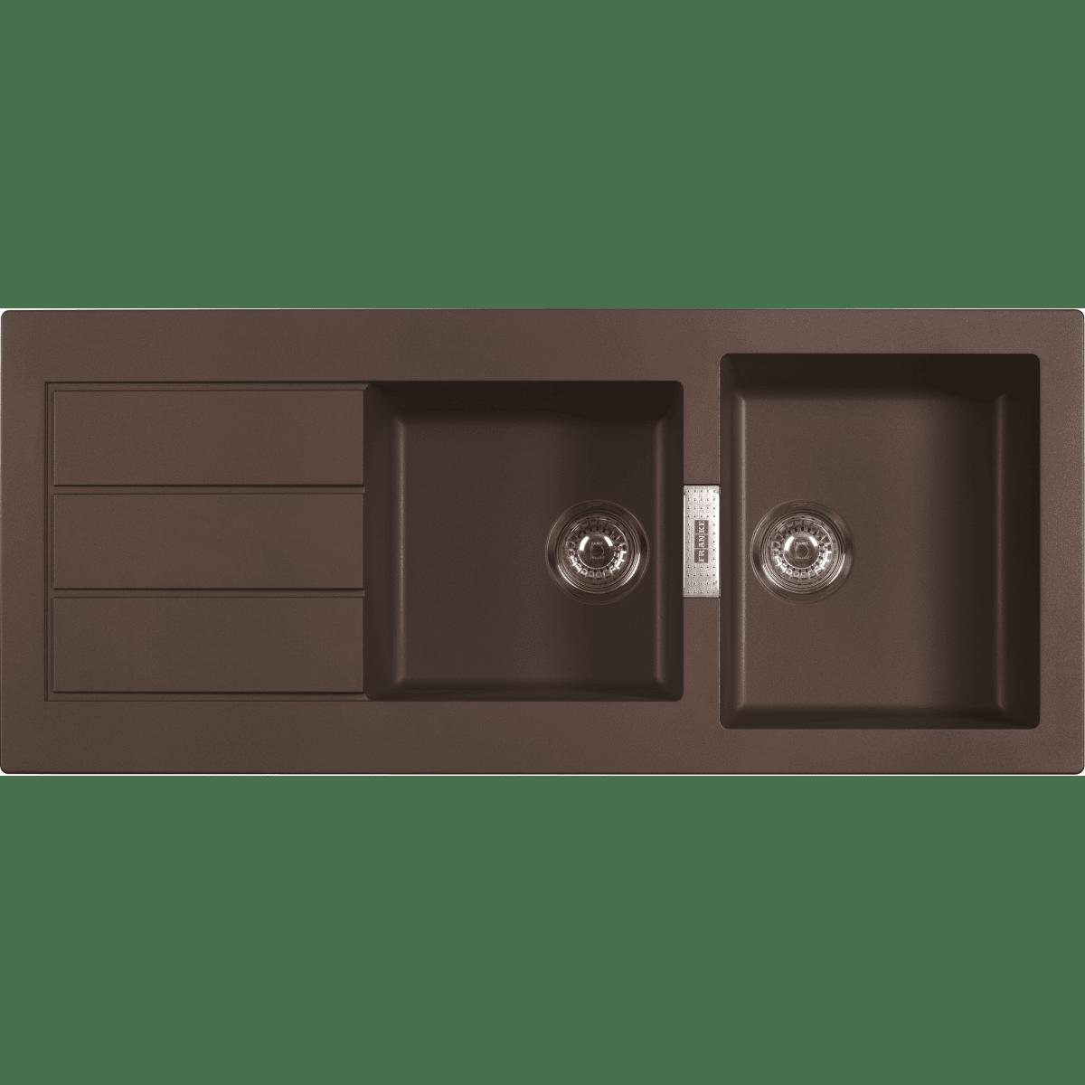 Franke sirius tectonite sid621 chocolat eviers direct evier - Evier franke sirius tectonite ...